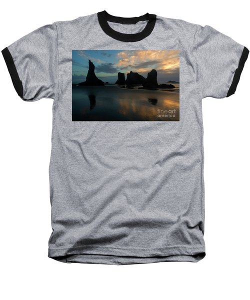Baseball T-Shirt featuring the photograph Castles In The Sand by Mike Dawson