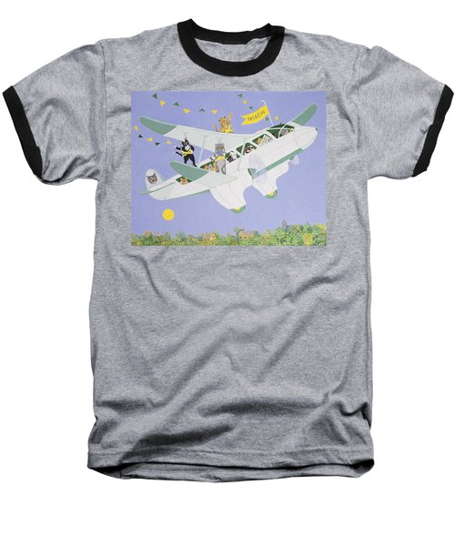 Cat Air Show Baseball T-Shirt