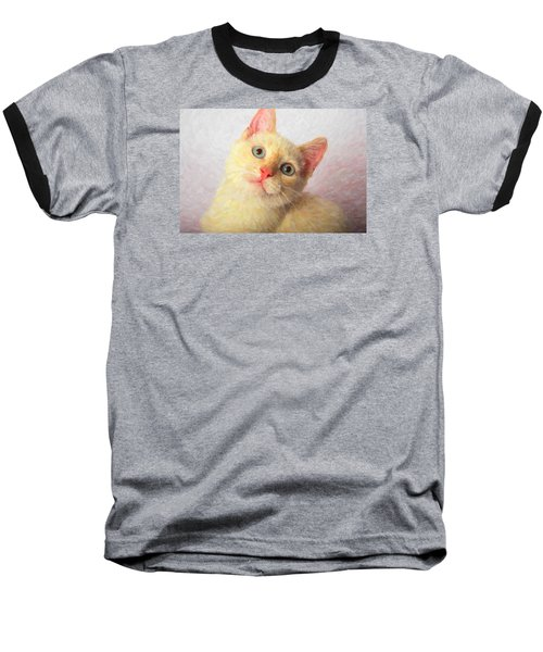 Cat Baseball T-Shirt by Andre Faubert