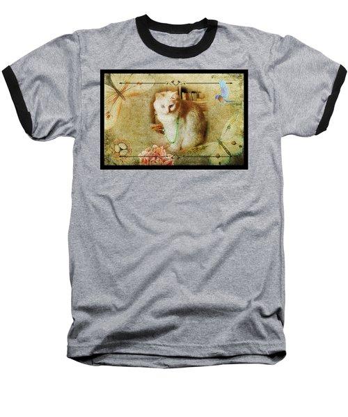 Kitty Cat Composite Art II Baseball T-Shirt