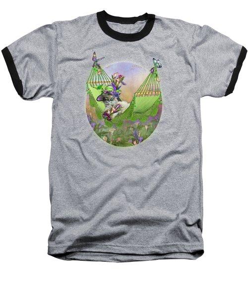 Cat In Calla Lily Hat Baseball T-Shirt