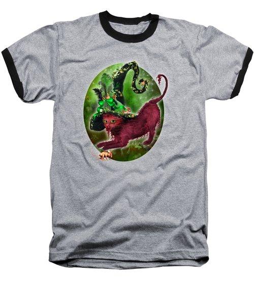 Cat In Fancy Witch Hat 2 Baseball T-Shirt