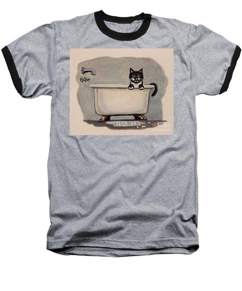 Cat In The Bathtub Baseball T-Shirt