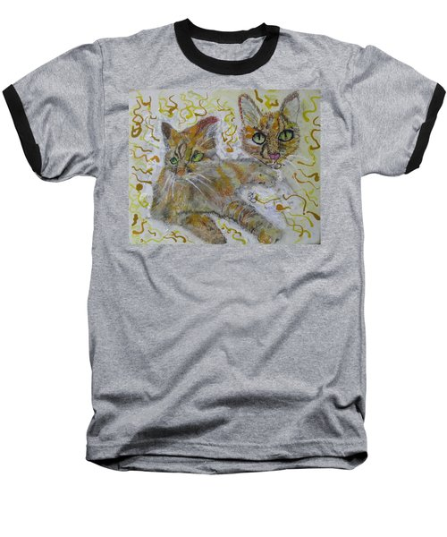 Cat Named Phoenicia Baseball T-Shirt by AJ Brown