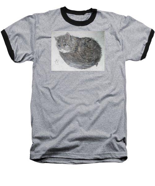 Cat Named Shrimp Baseball T-Shirt by AJ Brown