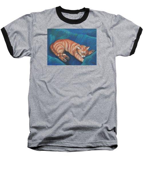 Cat Napping Baseball T-Shirt