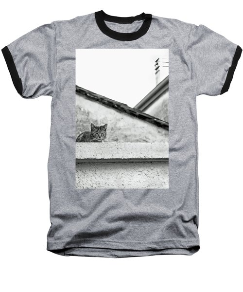 Cat On A Roof, Varenna Baseball T-Shirt by Brooke T Ryan