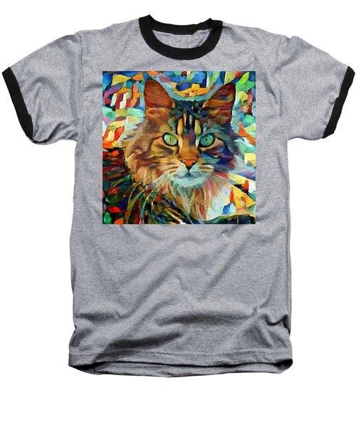 Cat On Colors Baseball T-Shirt