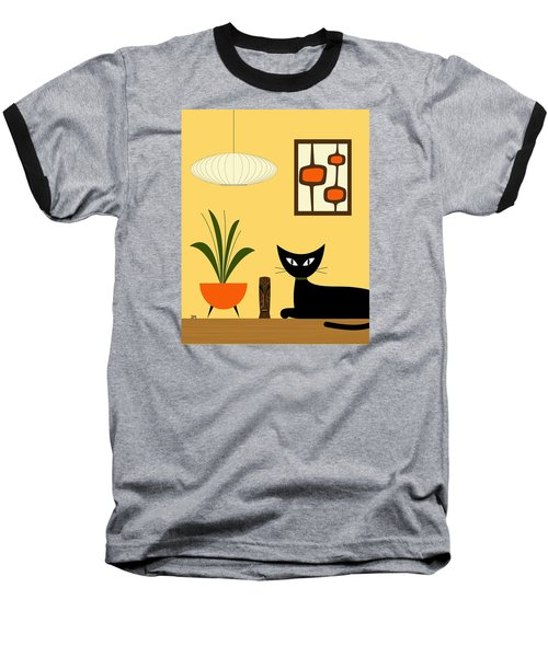 Cat On Tabletop With Mini Mod Pods 3 Baseball T-Shirt