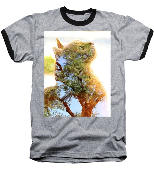 Cat Or Tree Baseball T-Shirt