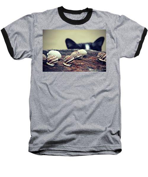 Cat Snails Baseball T-Shirt