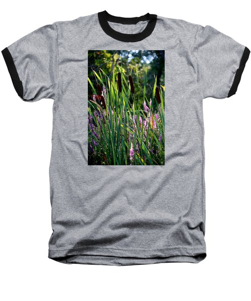 Cat Tails In The Morning Baseball T-Shirt