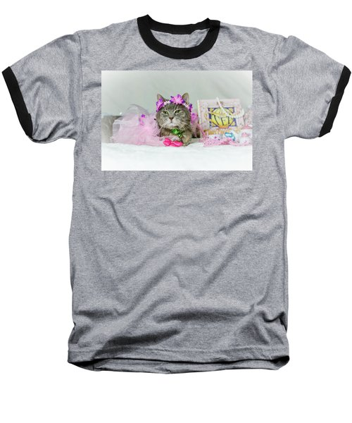 Cat Tea Party Baseball T-Shirt