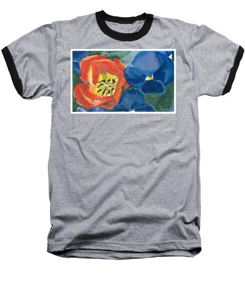 Cat Tulip Baseball T-Shirt by Joel Deutsch
