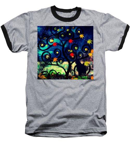 Cat Watch  Baseball T-Shirt
