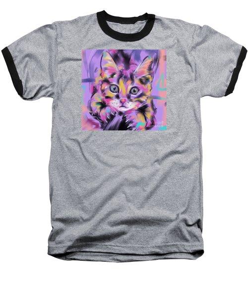 Cat Wild Thing Baseball T-Shirt by Go Van Kampen