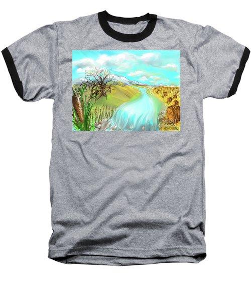 Catails Before The Fisherman Baseball T-Shirt