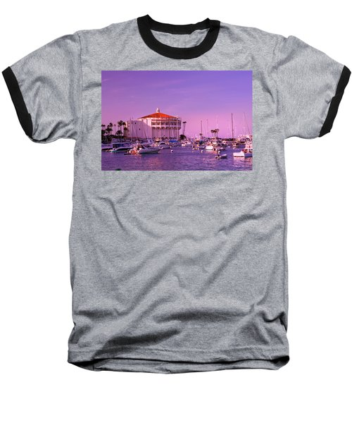 Catalina Casino Baseball T-Shirt by Marie Hicks