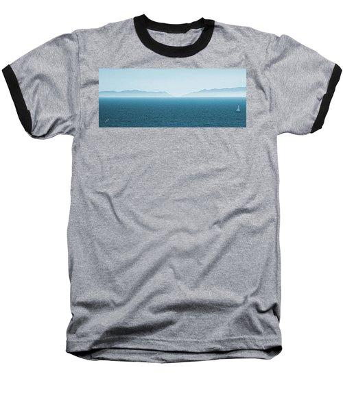 Catalina Island Large Panoramic Color Fine Art Print On Metal Baseball T-Shirt by Ben and Raisa Gertsberg