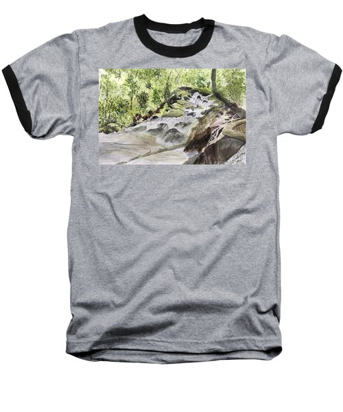 Catawba Falls - A Watercolor Sketch Baseball T-Shirt