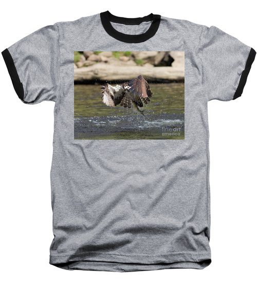 Catch Of The Day Baseball T-Shirt by Ursula Lawrence