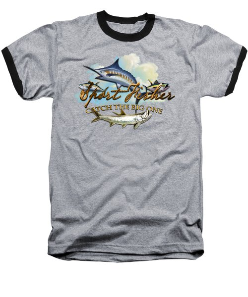 Catch The Big One Baseball T-Shirt