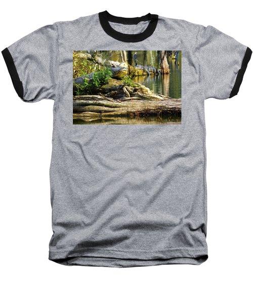 Catchin Some Rays Baseball T-Shirt by Kimo Fernandez