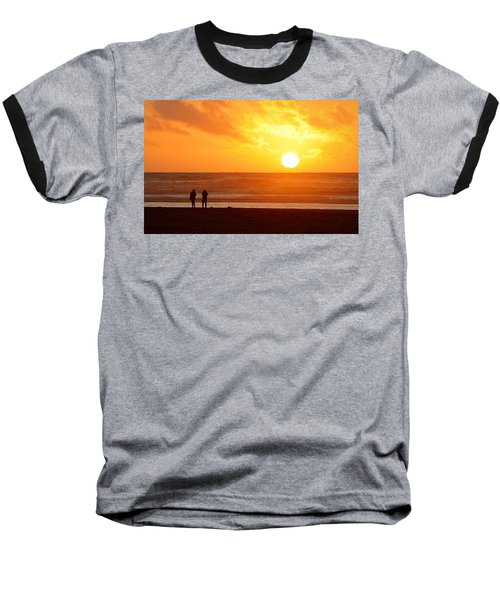 Catching A Setting Sun Baseball T-Shirt