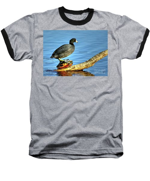 Baseball T-Shirt featuring the photograph Catching A Slow Ride by Myrna Bradshaw