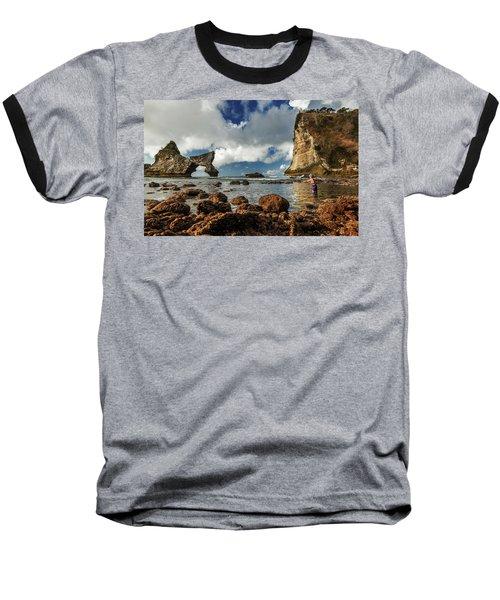 catching fish in Atuh beach Baseball T-Shirt