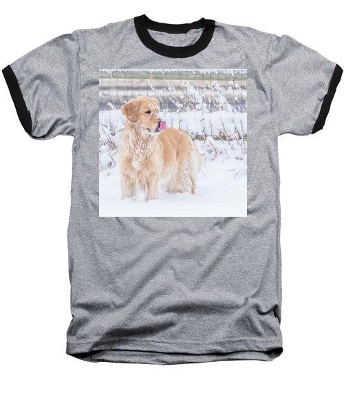 Catching Snowflakes Baseball T-Shirt