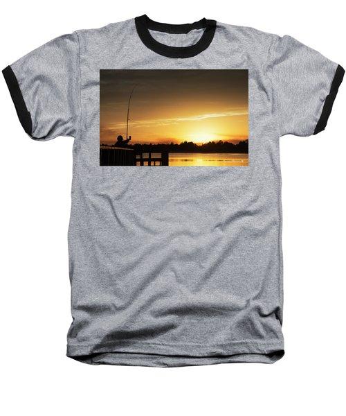 Catching The Sunset Baseball T-Shirt by Phil Mancuso