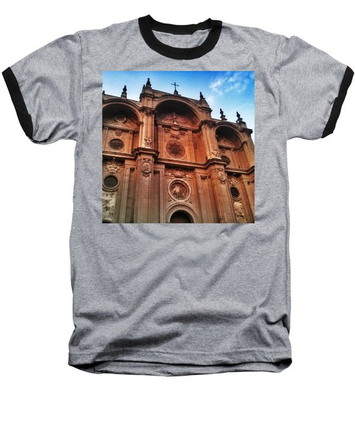 Catedral De #granada View From Plaza Baseball T-Shirt