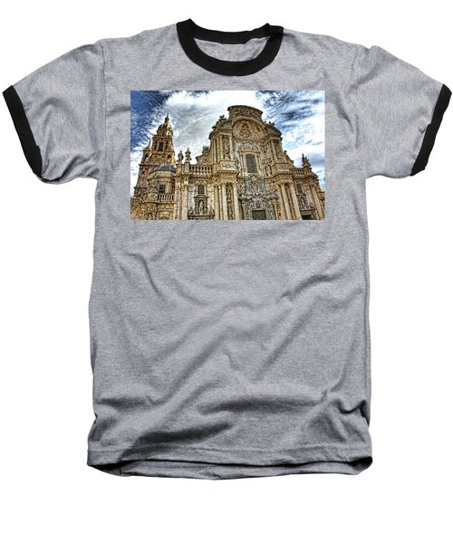 Catedral De Murcia Baseball T-Shirt by Angel Jesus De la Fuente