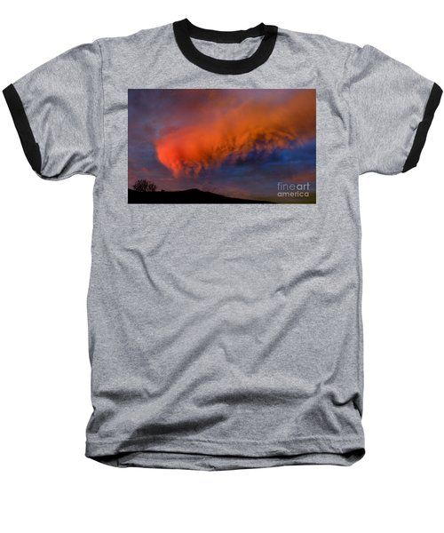 Caterpillar Cloud In The Sky Baseball T-Shirt