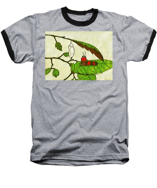 Baseball T-Shirt featuring the drawing Caterpillar Whimsy by Wendy McKennon