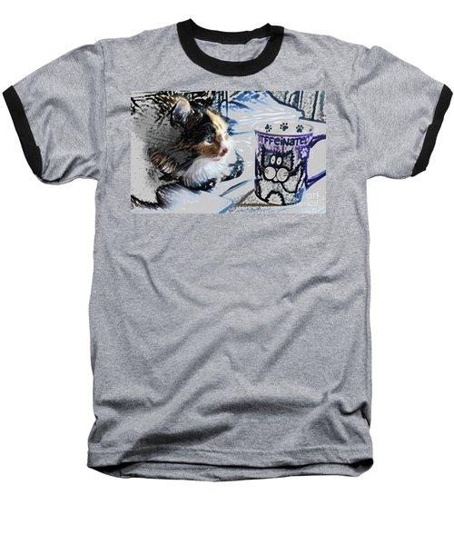 Catfinated Kitty Baseball T-Shirt