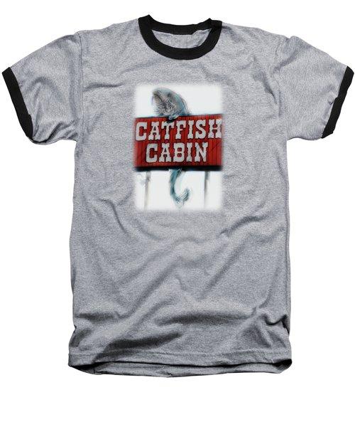 Catfish Cabin  Baseball T-Shirt by Anita Faye