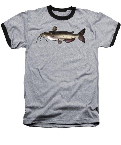 Catfish Drawing Baseball T-Shirt by A C