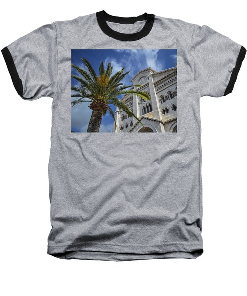 Baseball T-Shirt featuring the photograph Cathedral At Monte Carlo by Allen Sheffield