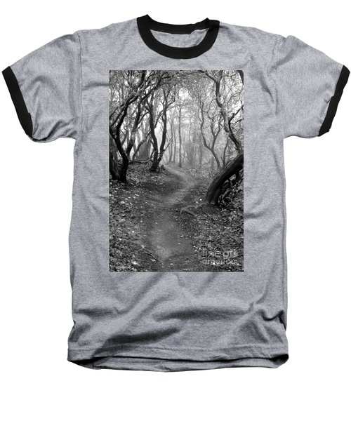 Cathedral Hills Serenity In Black And White Baseball T-Shirt by Marie Neder