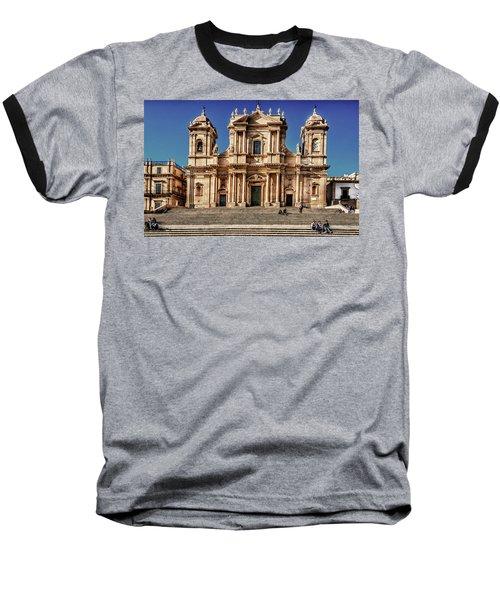 Cathedral II Baseball T-Shirt by Patrick Boening