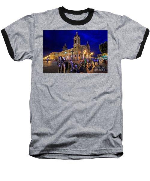 Cathedral Of Granada Shines Brightly Baseball T-Shirt