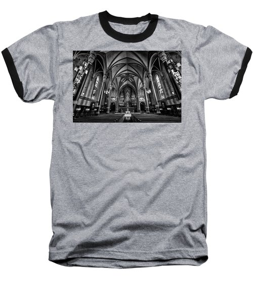 Cathedral Of The Madeline In Black And W Baseball T-Shirt