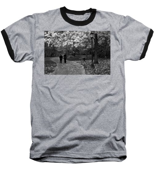 Cathedral Park In Fall Bw Baseball T-Shirt
