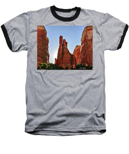 Cathedral Rock 05-155 Baseball T-Shirt by Scott McAllister