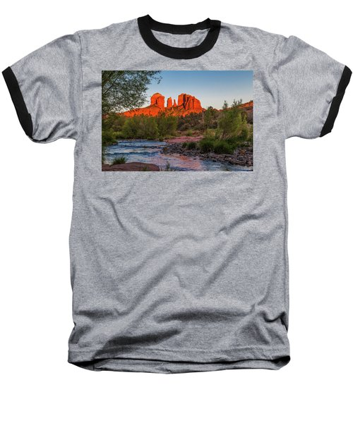Cathedral Rock At Red Rock Crossing Baseball T-Shirt