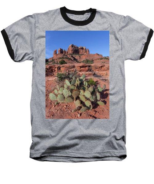 Cathedral Rock Cactus Grove Baseball T-Shirt
