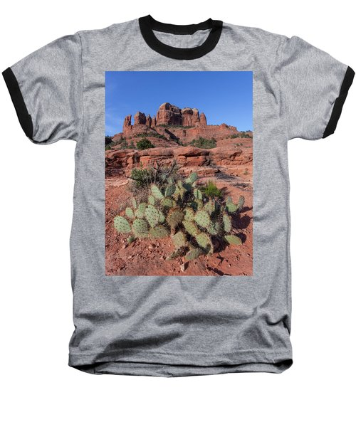 Cathedral Rock Cactus Grove Baseball T-Shirt