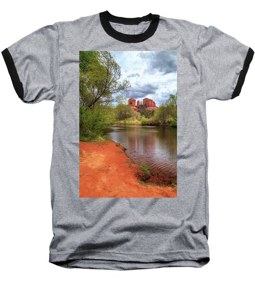 Baseball T-Shirt featuring the photograph Cathedral Rock From Oak Creek by James Eddy